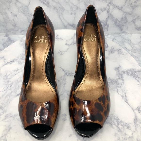 f17551acd Alex Marie Shoes | Animal Print Open Toe Heel | Poshmark